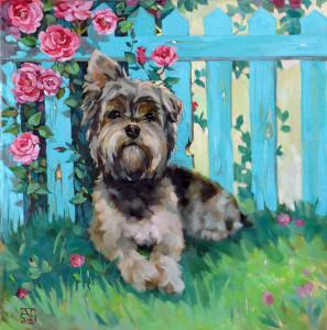 живопись, купить картину маслом, картина с собакой, живопись, продается картина,, анималистика