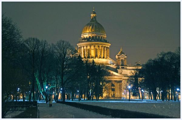 Санкт-Петербург, город, зима