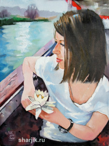 картина с девушкой, картина на заказ