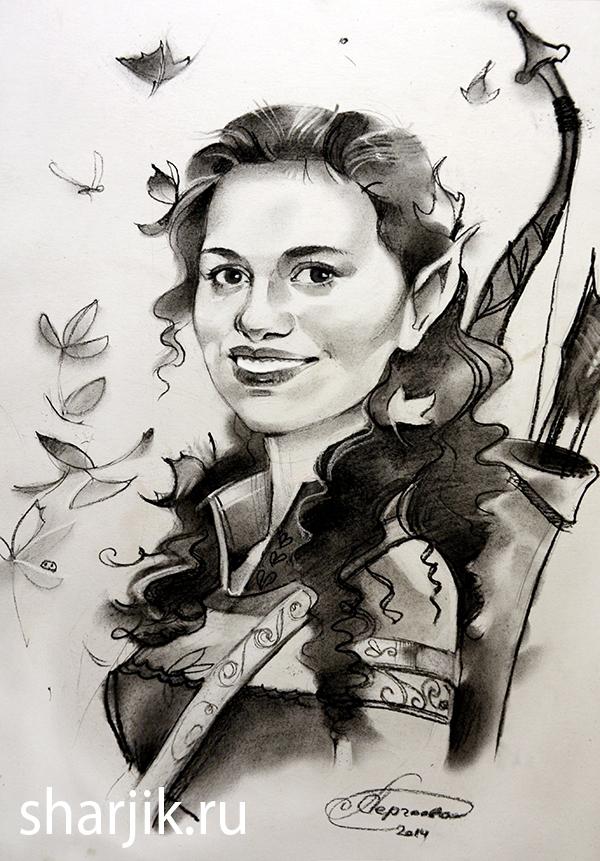портрет эльфа, портрет фентези