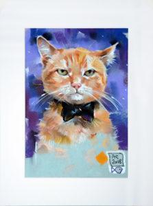 кот, портрет кота, пастель, картина