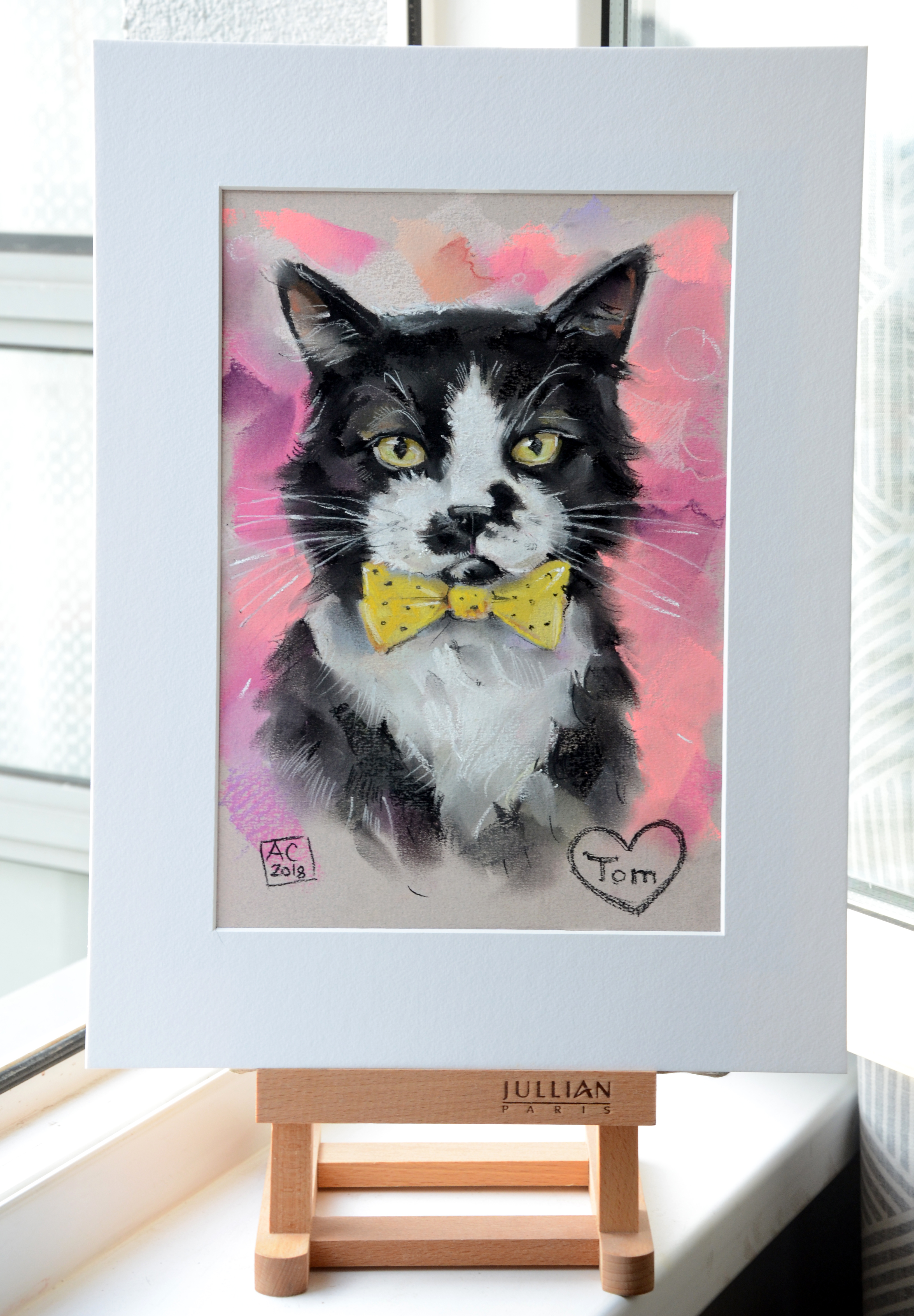 портрет кота тома, кот по фото, заказать портрет кота