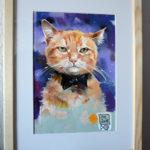 кот, продажа картины, котик, рыжий кот, купить картину пастелью