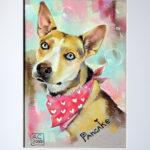 портрет собаки, шаржик ру, сергеева арт
