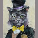 портрет кота во фраке