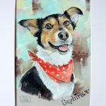 портрет собаки, портрет пастелью, портрет на заказ, рисую с любовью