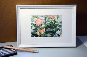 картина пастелью, продажа картины пастелью, купить розы, розы картина, пастель розы, розочки, сергеева александра шаржи, шаржик ру, цветы, картина цветы купить