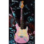 картина маслом гитара, купить абстрактную картину, купить интерьерную картину, картина с гитарой