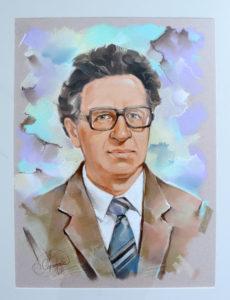 портрет дедушки, парадный портрет в костюме для дедушки, заказать портрет в подарок