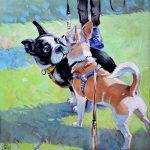 картина с больдогом, картина с чихуахуа, картина с собаками
