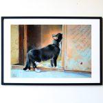 черный кот, картина с котом, купить картину в подарок