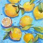 картина с лимонами
