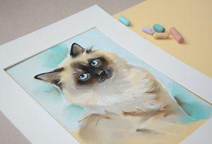 сиамский кот, портрет кота невской маскарадной