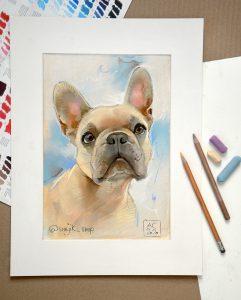 француский бульдожик портрет, картинки с собаками