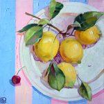 картина маслом, продажа картины, картина с лимонами, купить картину натюрморт